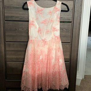 Alice + Olivia Fila Tulle & Lace Mini Dress
